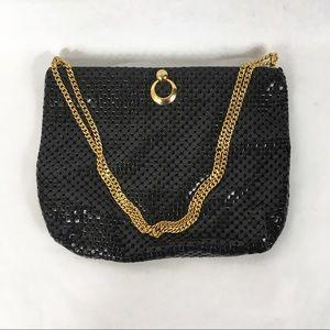 Vintage Whiting & Davis Black Mesh Handbag